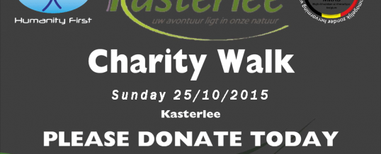 Charity Walk Sunday 25 October 2015